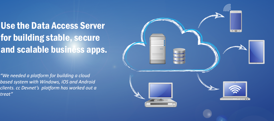 Data Access Server for Cloud Based Application Server Developments